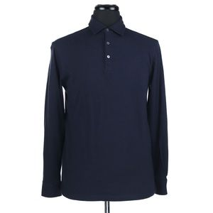 Peter Millar Crown Fleece L/S Polo Shirt Small